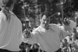 Фехтмейстер Руслан Каприлов, руководитель клуба европейского исторического фехтования «Парад - Рипост». Фотограф Виталий Фёдоров, ALFstudio