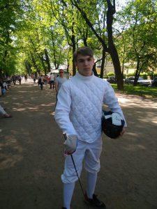 Андрей Максимов, выпускник первого набора 2015-2018 гг. школы «Плащ и шпага»