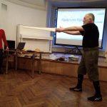 HEMA Days 2019. Workshop by Jean-Pascal Esparceil in the Saint Petersburg Swordsmanship Club. Conferenceinterpreter from English - Alena Morgun. Photo: Marina Chibisova