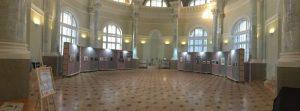Общий вид экспозиции Шестой Санкт-Петербургской биеннале «Фехтование в искусстве» 2019 в БИКЦИМ на Невском, 20
