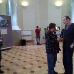 Художники Владимир Шинкарев и Виктор Тихомиров, участники Санкт-Петербургской биеннале «Фехтование в искусстве» 2019