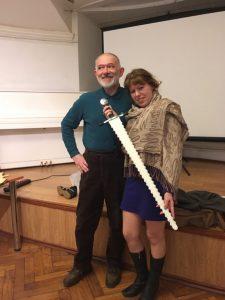 Марина Чибисова и Жан Паскаль Эспарсель на семинаре в Санкт-Петербургском Фехтовальном Клубе, апрель 2019