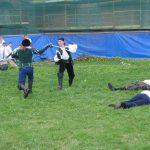 Второй День Фехтовальщика в Петропавловской крепости. Поединок Пьера и Дмитрия Круглова. Фото: Clegg