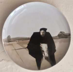 Шинкарев Владимир Чапаев 2003 Диаметр 36см, фарфор