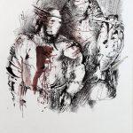Василий Бертельс Меч в золотых ножнах 2000 29,7х21, тушь, перо, карандаш
