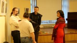 Фотограф и фехтовальщик Вит.Федоров и члены клуба ПАРАД-РИПОСТ