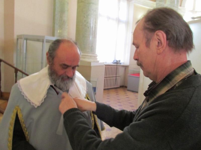 Николай Благодатов и Владимир Шинкарев превращаются в мушкетеров