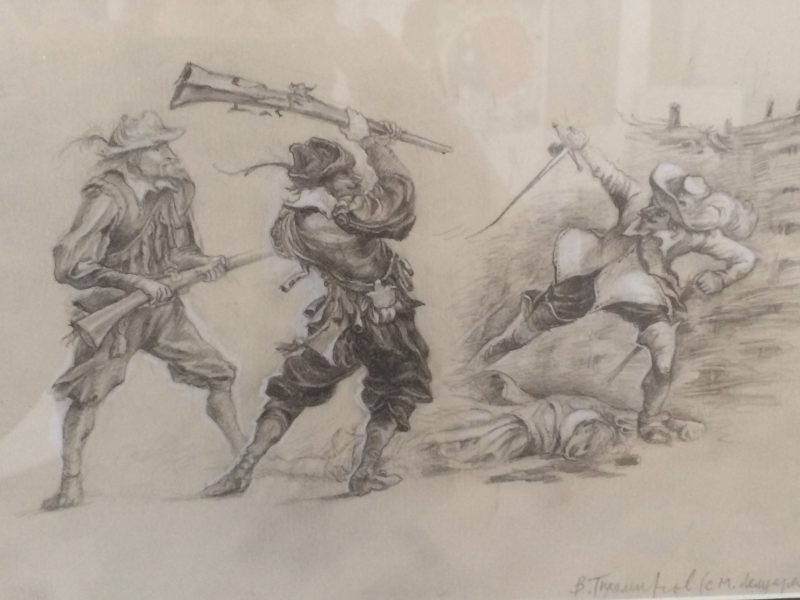 Тихомиров Виктор Иллюстрации к «Трем мушкетерам» (по М. Лелуару), 2015