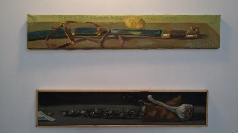 Виктор Тихомиров «Опасные предметы», 2007. Х.,м. «Холодное оружие», 2012. Х.,м.