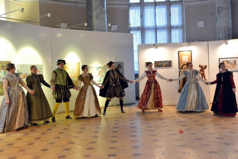 Ансамбль танцев эпохи Возрождения « Vento del tempo» на Днях фехтовальной культуры 2016