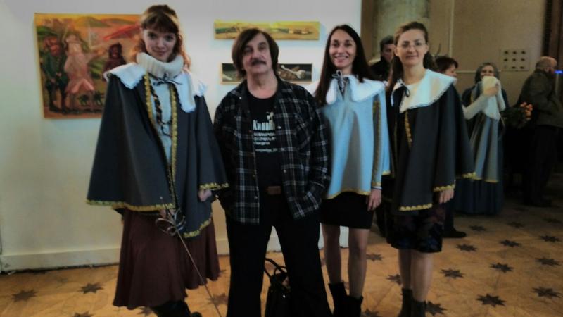 Виктор Тихомиров на открытии Дней Фехтовальной культуры 2016 и вернисаж выставки