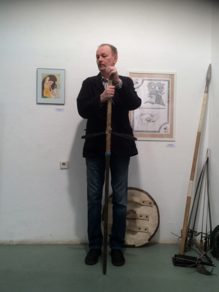 Владимир Шинкарев на вернисаже Биеннале