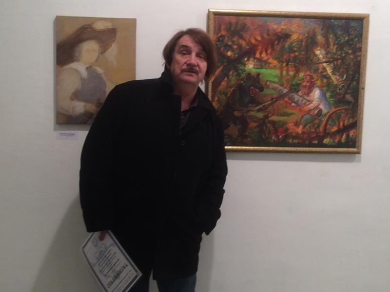 Виктор Тихомиров на вернисаже Биеннале