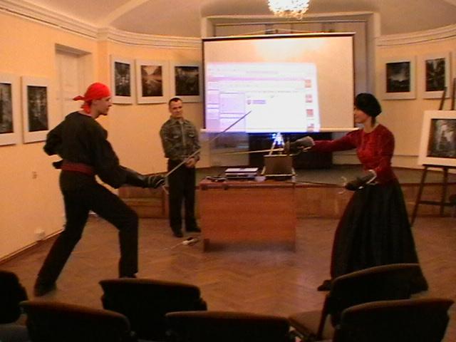 Поединок на шпагах Виталий и Юлия Федоровы