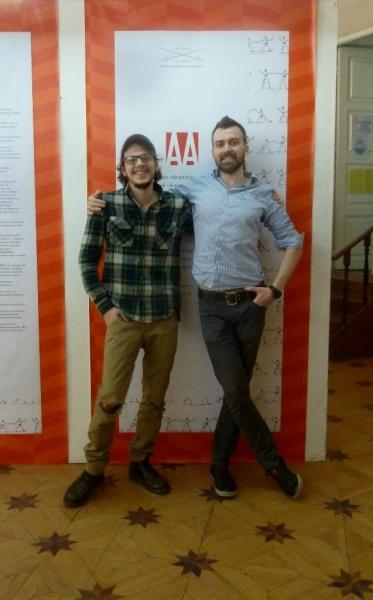 Архитекторы Сергий Туляков и Андрей Морозов, авторы дизайна выставки СО ЗНАНИЕМ ДЕЛА