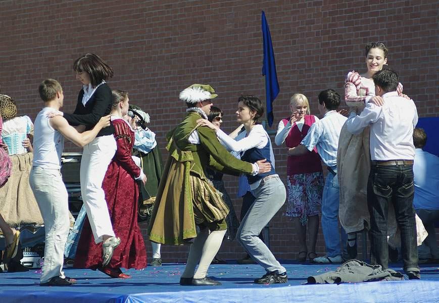 Мастер класс ансамбля танцев Возрождения Vento del Tempo