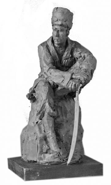 Матющенко Виктор. Казак. 2012. Пластилин,28х14х15