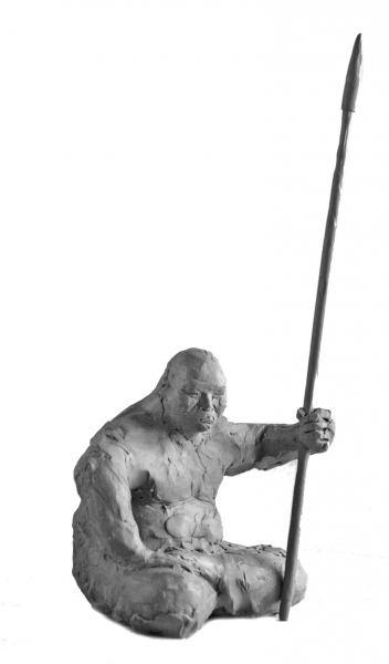 Шаталов Николай . Монгол.2012. Пластилин, 28х13х10
