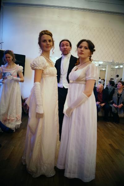 Варвара Лачек, Ирина Мышланова и Алексей Веретенников, на заднем - Аника Мазурина