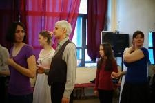 Анатолий Заверняеев (Родион) танцует с Пушкинской студией старинных танцев
