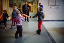 Мастер Детской площадки Николай Прокопьев и его бойцы в сражении