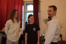 Гильдия вольных фехтовальщиков - руководитель С.Култаев с ученицами