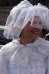 Алина Тулякова, председатель СПбФК в роли шахматной Белой королевы.