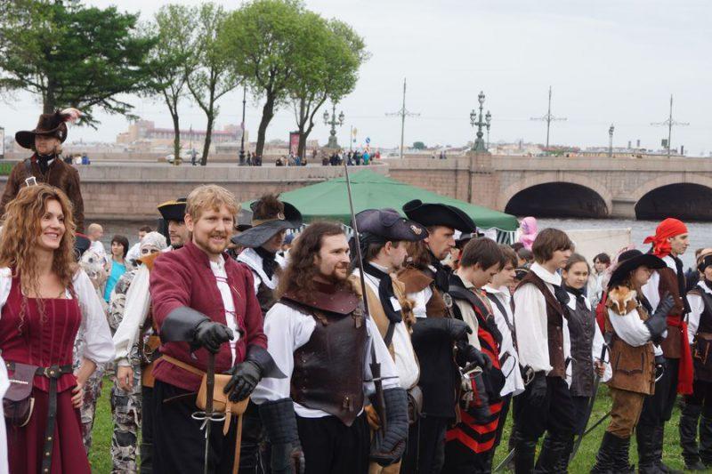Торжественное окончание выступлений на празднике День Фехтовальщика