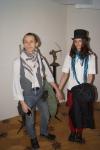 Скульптор Павел Грешников с женой. Автор скульптур Азенкур и Броненосец.