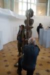 Леонид Колибаба и его скульптура Дон Кихот