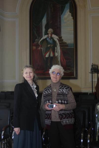 Турнир им. Н.В. Чугунова.  Елена Николаевна Чугунова (справа). Фото: Руслан Каприлов