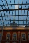 1. Стеклянная крыша над внутренним двором Комендантского дома - зал атриум.