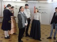 На открытии выставки на Невском,20 выступила Марина Пассет, сотрудник БИКЦИМ ЦГПБ им.Маяковского