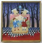 Киселева Елена «Театр», 1989. Х., м. 53х50
