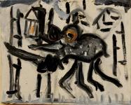 Курмаярцев Андрей (Мертвый) «Я злодея зарублю и тебя освобожу», 2011. Х.,м.27х22