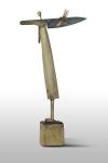 Бурьян Олег « Несущий нож», 2013. Дерево, металл, бумага. 60х10 х32