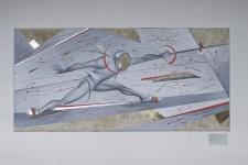 Чеботарева И. «Фехтовальщик», 2012. Х.,см.техн. 100х45