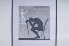 Мацкевич Д. «Побежденный», 2013. Бум,коллаж. 35х38
