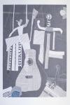 Малаховская С «Жизнь - театр», Бумага, коллаж. 36х48