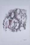 Бертельс Василий «Меч в золотых ножнах», 2000. Бумага, тушь, перо.20х30