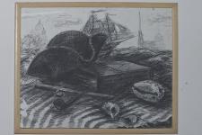 Малаховская С. «Морской натюрморт». Литогр.кар. 53х63