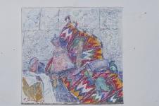 Герман Наталия «Натюрморт с ножом», 2009. Х.,м. 80х70