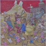 Рейхет Петр «Избиение младенцев», 2013. Х., акрил. 110х100