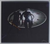 Кузьмин Андрей «Д'Артаньян берет штурмом летающую тарелку». 2011.Принт, смеш.техн.50х38
