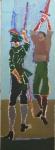 ДУЭЛЬ. Картина Алексея Митина. Посвящается Жаку Калло. Написана специально для третьей биеннале ФЕХТОВАНИЕ В ИСКУССТВЕ