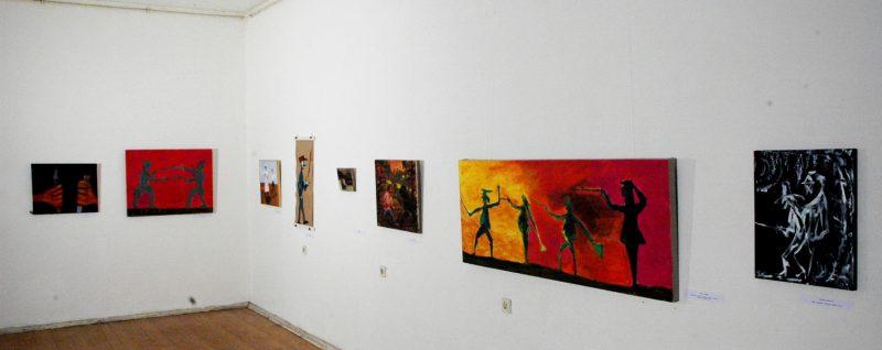 Общий вид экспозиции,где висела картина Ники(Елены Богдановой) Изящно.Х.,м.2009