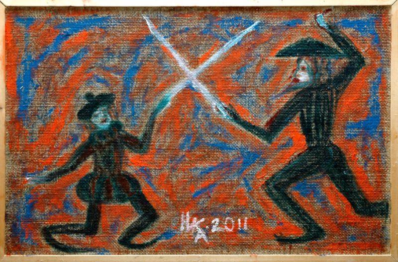 Ника( Богданова Елена) Средневековый дуэт. 2011. Х., м.37х57