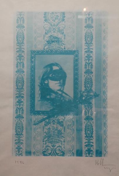 Новиков Тимур «Железная маска».1996. Гуммиарабиковая печать.52х36