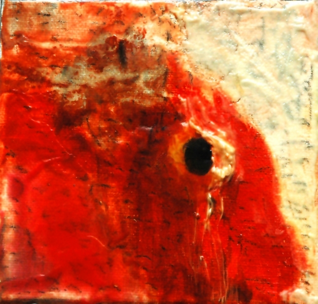 Дашевский Александр «Колотые раны», диптих, 2011. Х.,м. 5х5