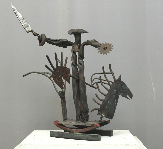 Лапачугин Максим «Воитель», 2000-2001. Металл, ковка, сварка. 45х43х41